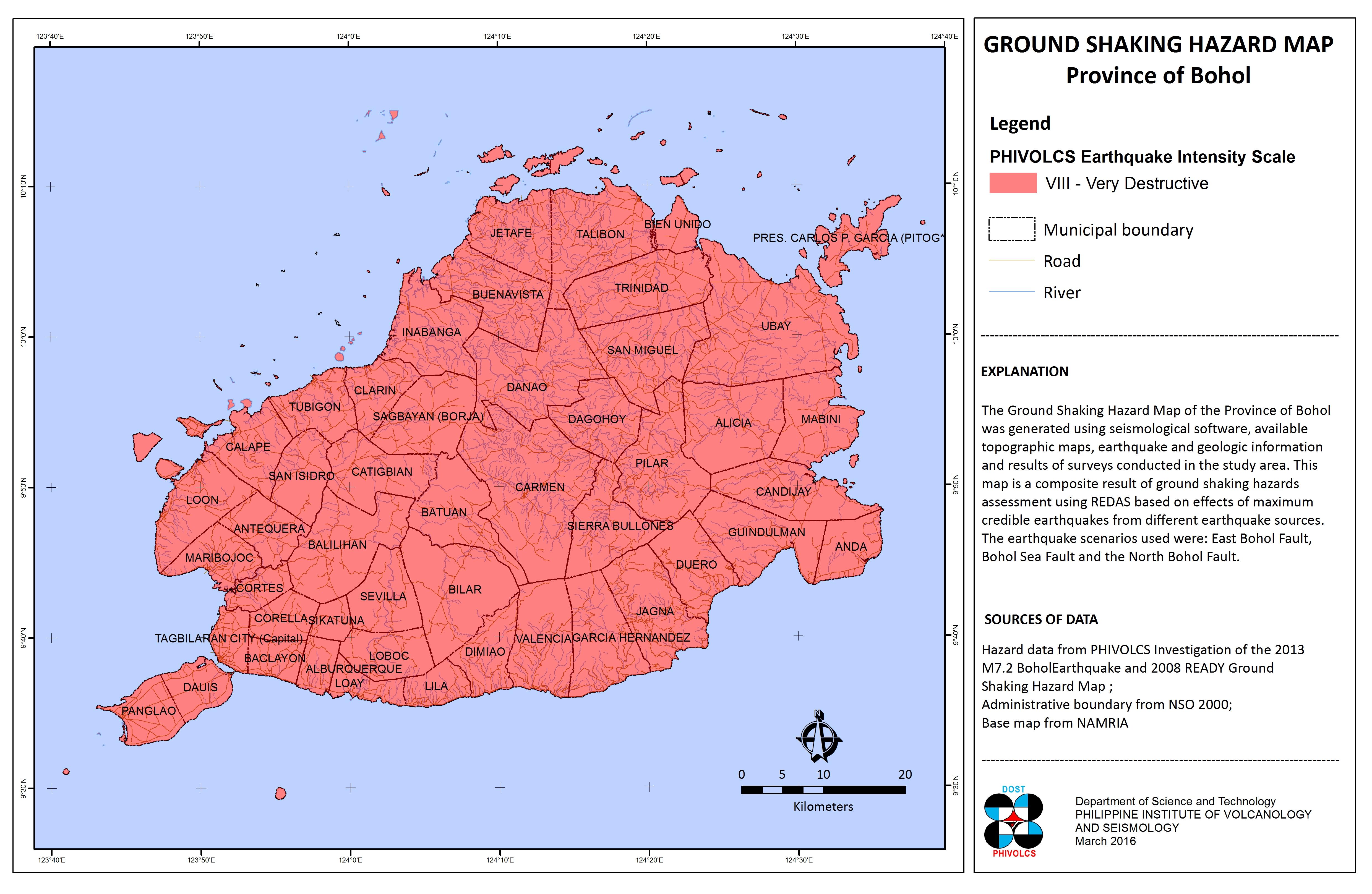 Ground Shaking Hazard Map, 2016 update