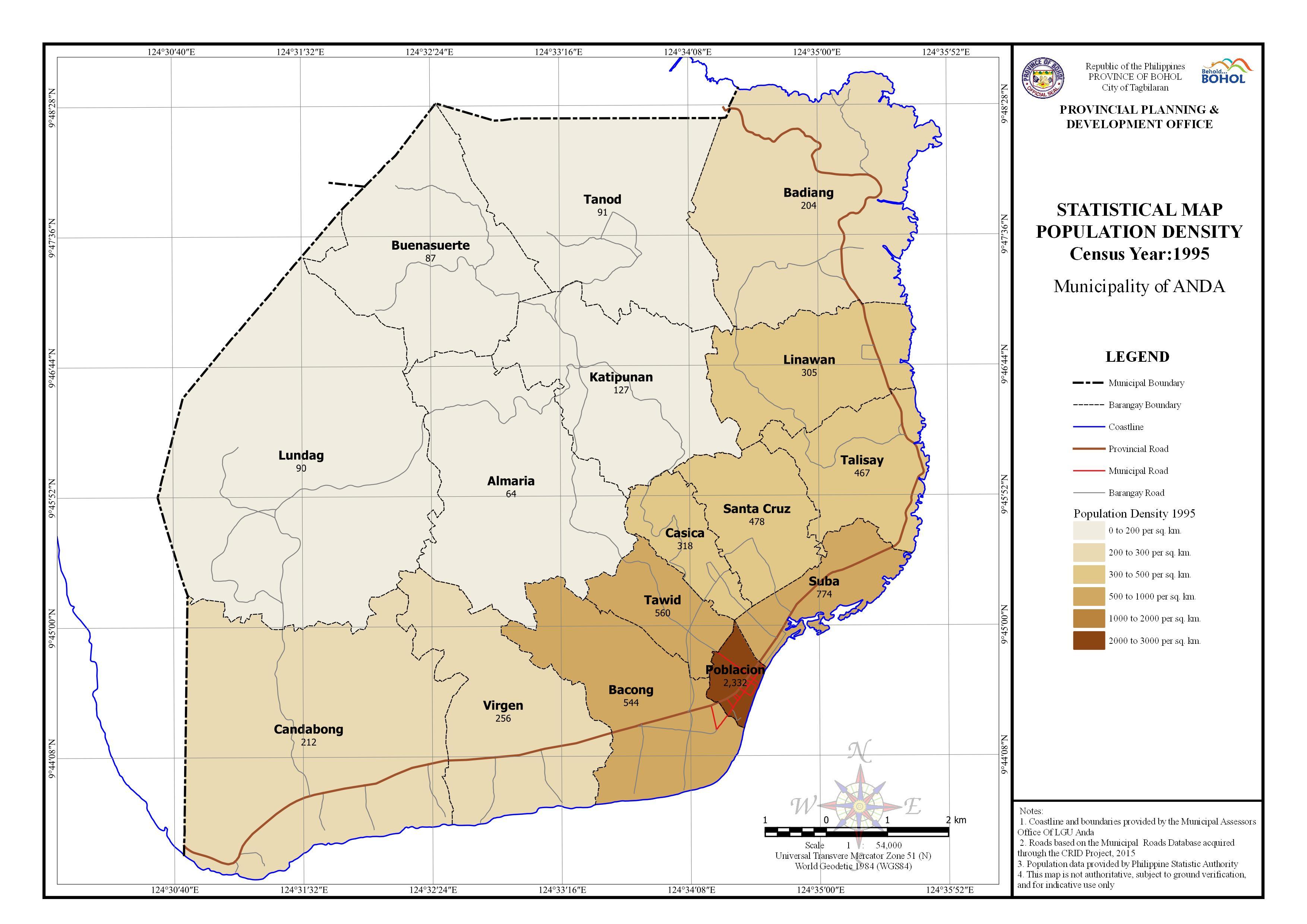 Statistical - Population Density 1995