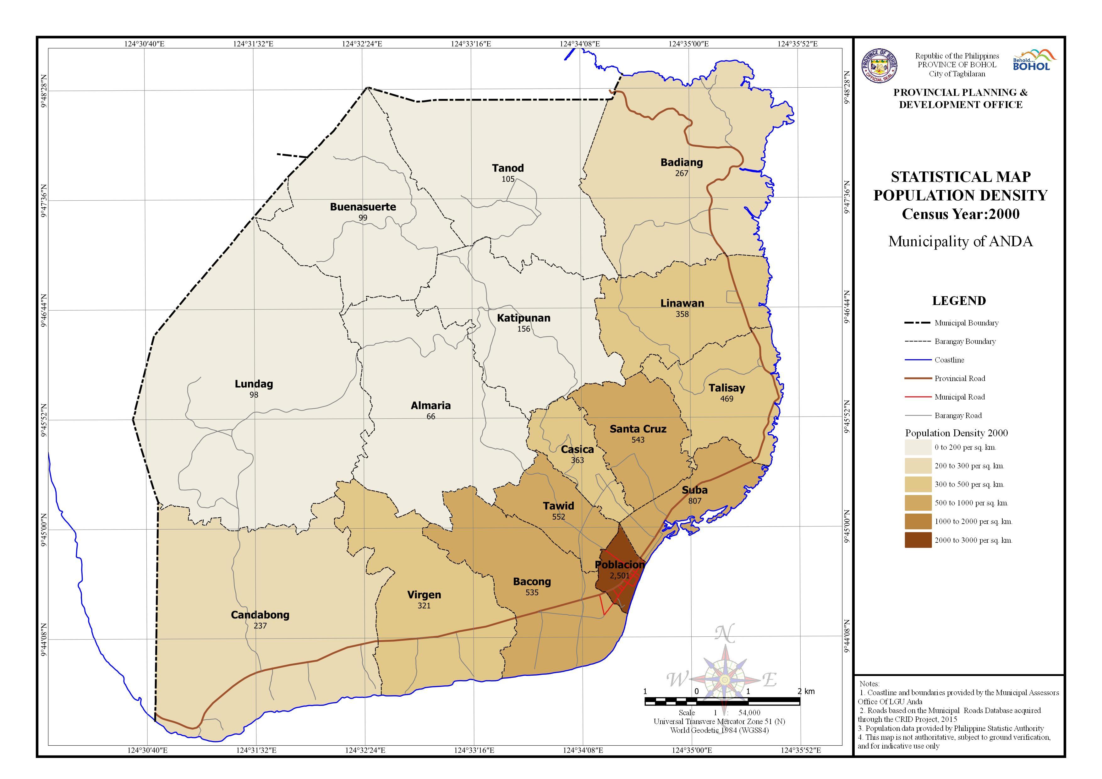 Statistical - Population Density 2000
