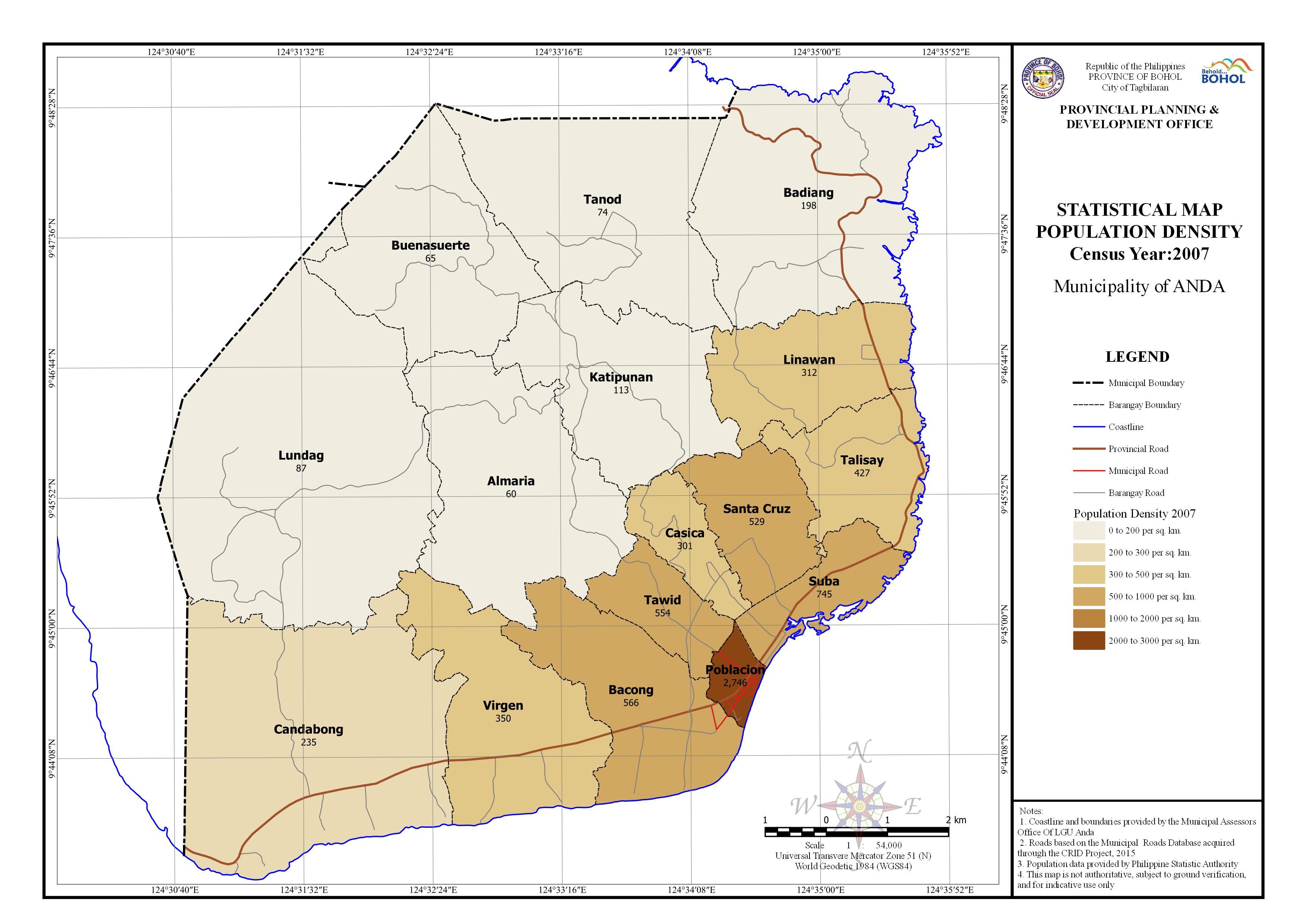 Statistical - Population Density 2007