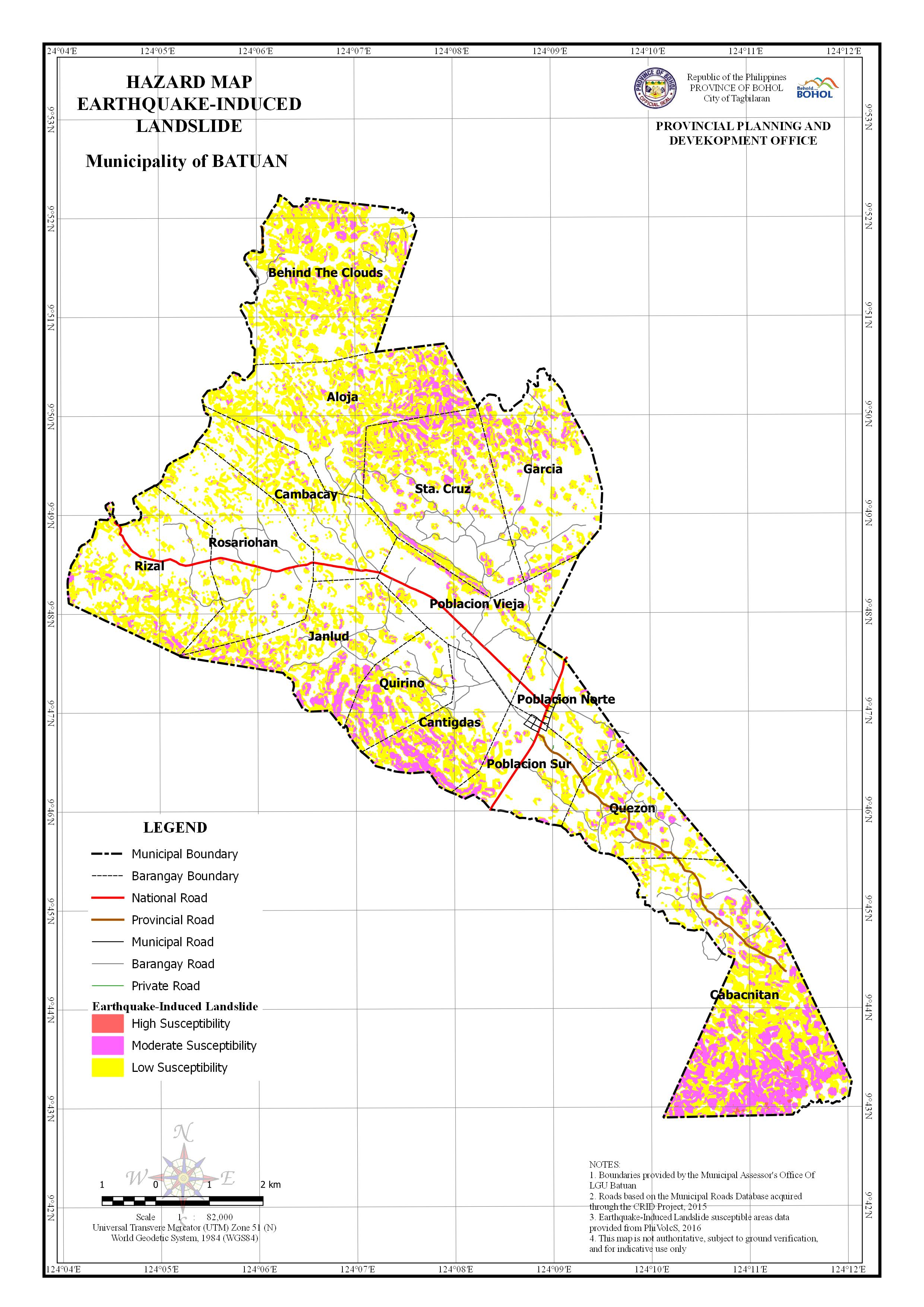 Earthquake-Induced Landslide Map