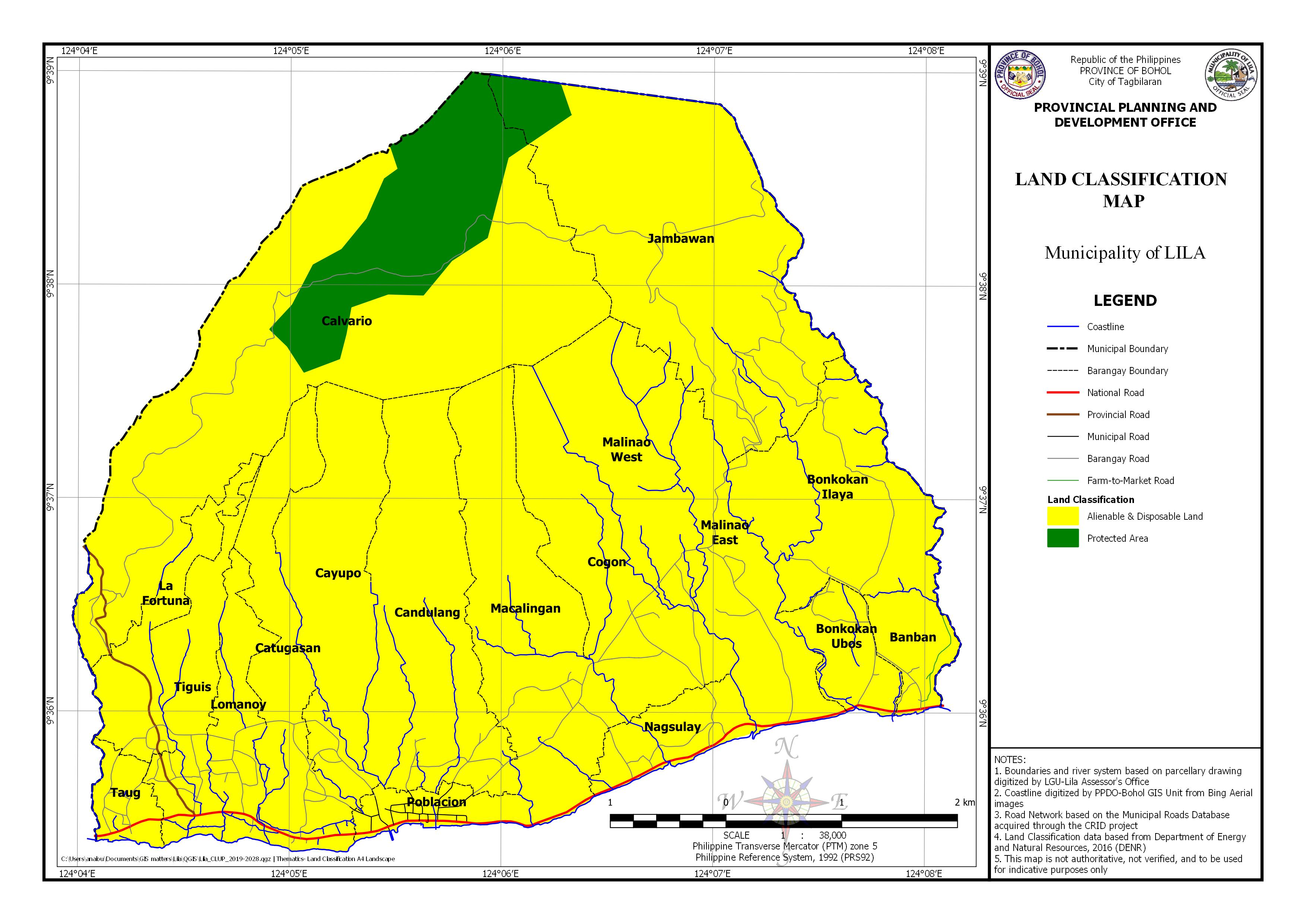 Land Classisfication Map