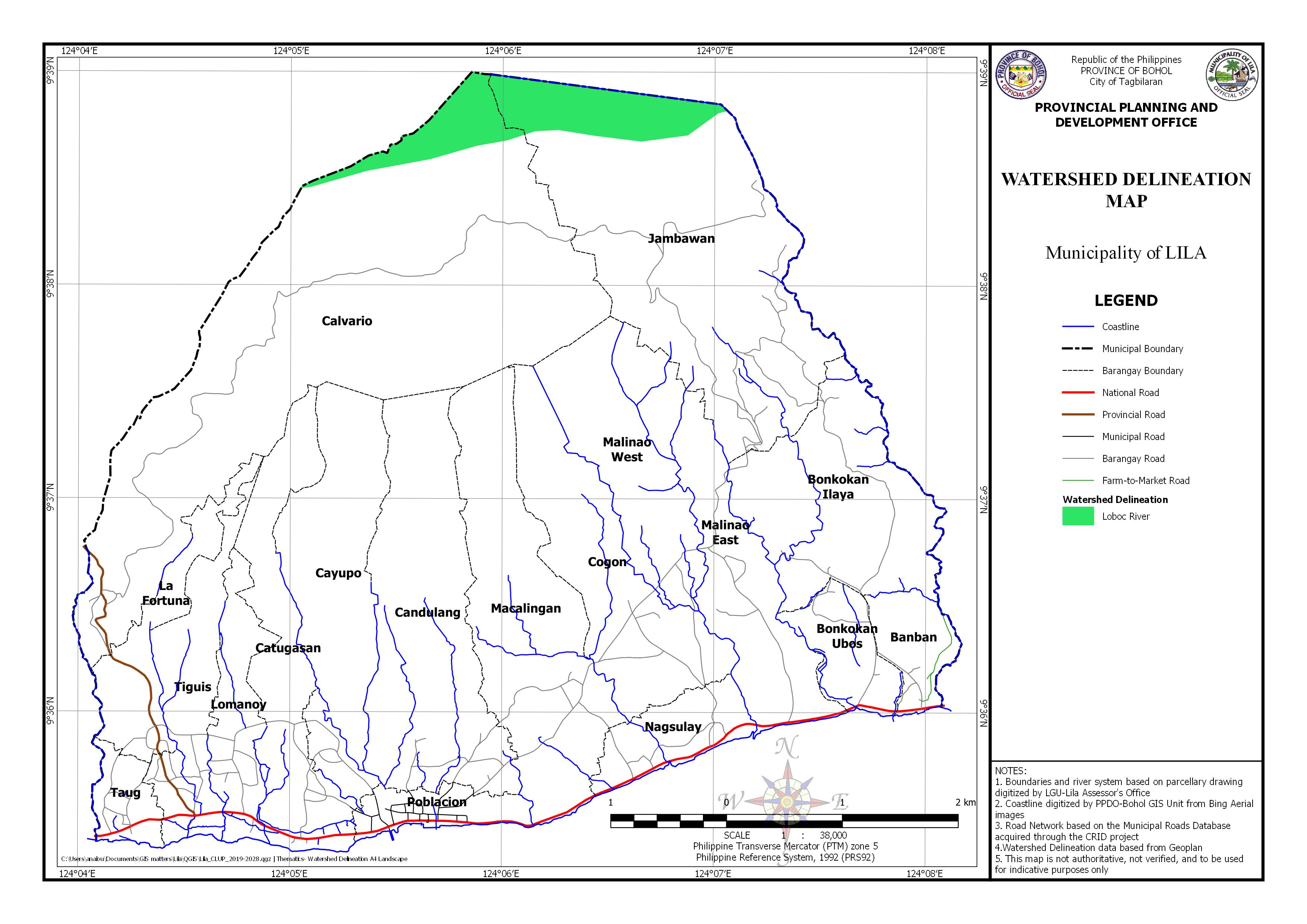 Watershed Delineation Map