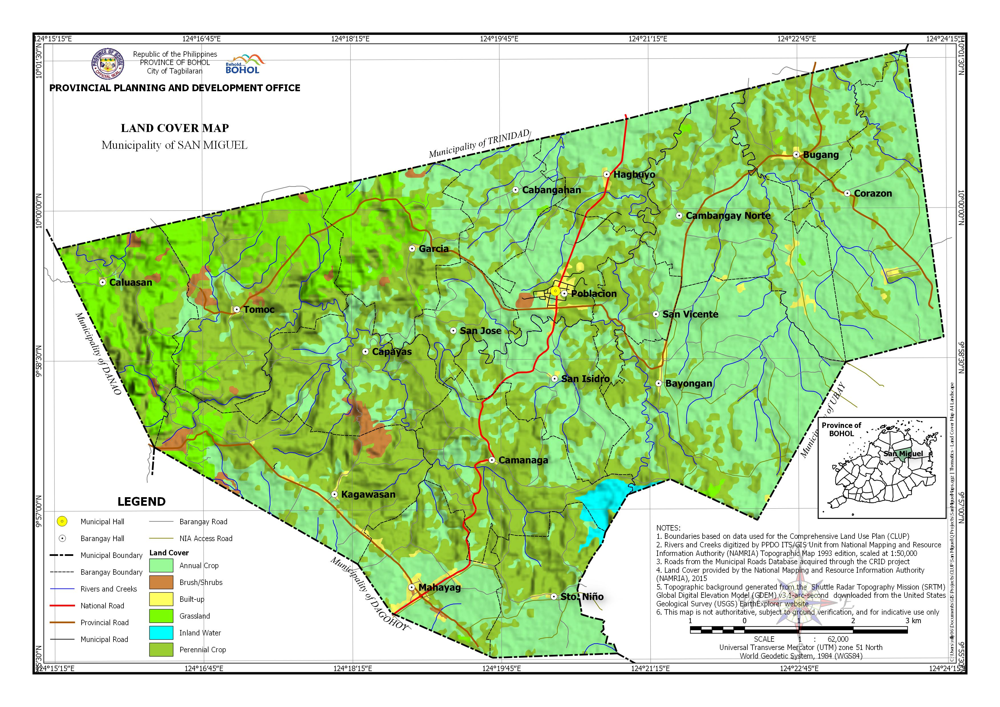 Land Cover Map of San Miguel