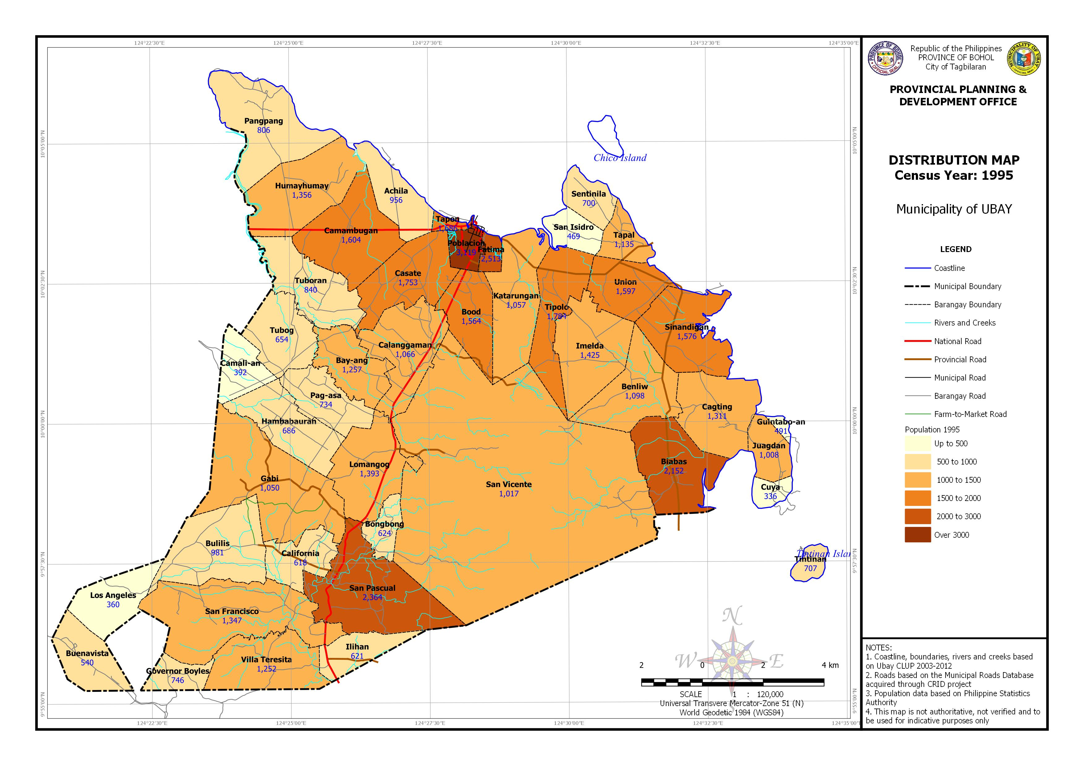 Population Distribution Census Year:1995 Map