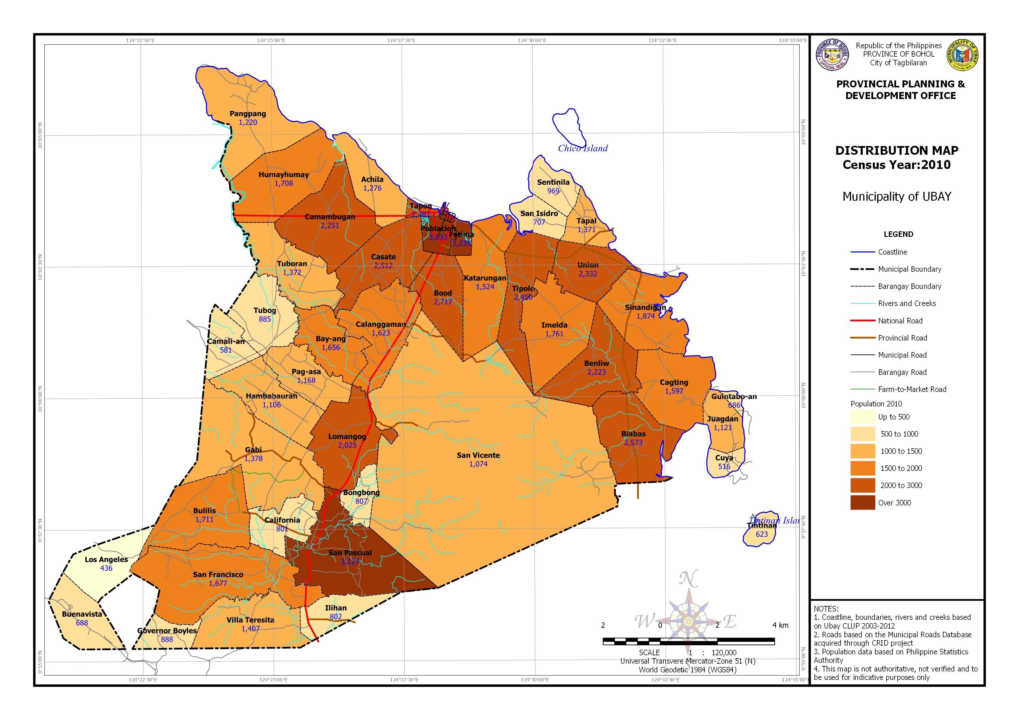 Population Distribution Census Year: 2010 Map