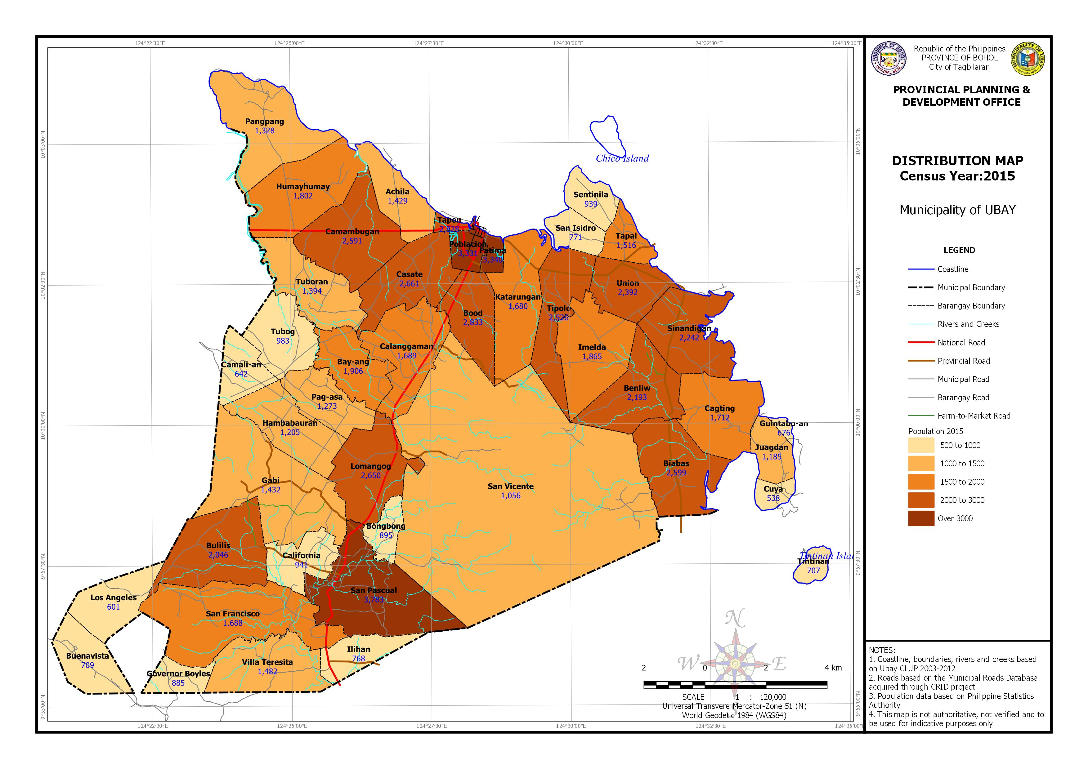 Population Distribution Census Year: 2015 Map