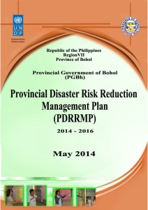 Bohol Provincial Disaster Risk Reduction Management Plan 2014 - 2016