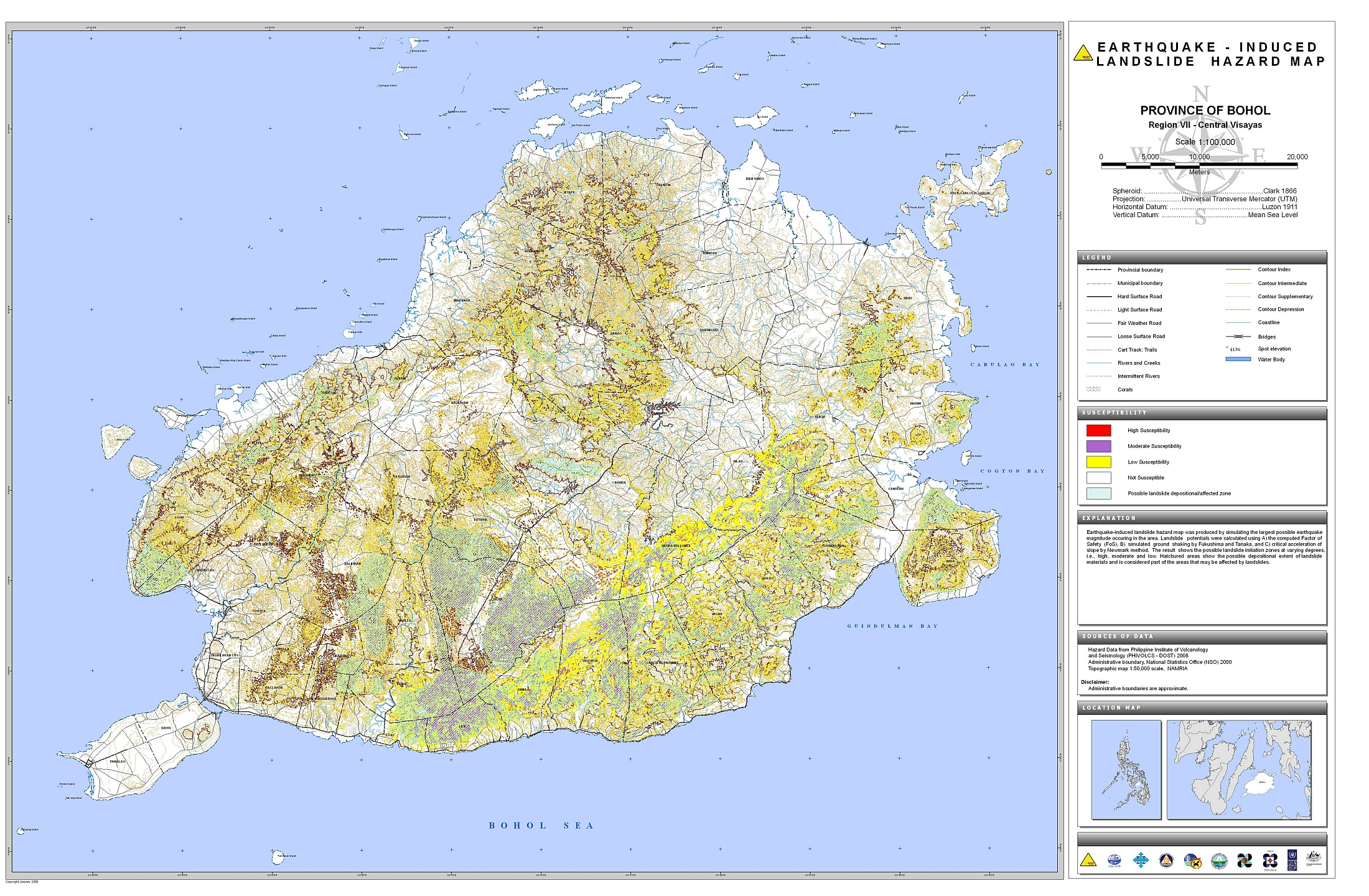 Bohol Earthquake-Induced Landslide Hazard Map