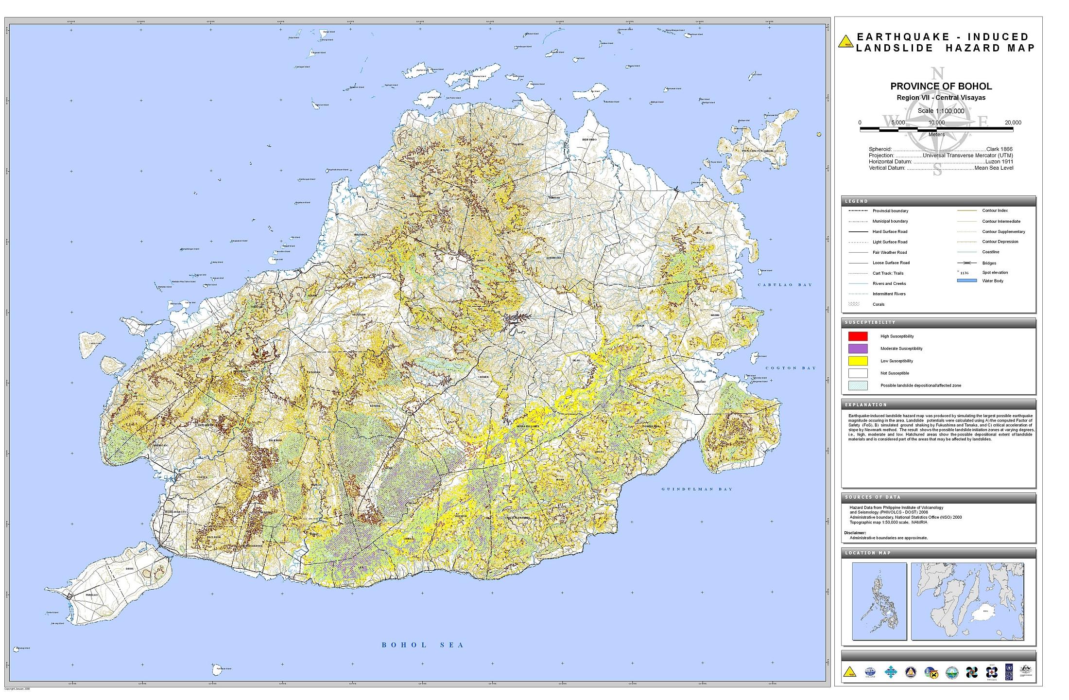 Bohol Earthquake-Induced Landslide Hazard Map