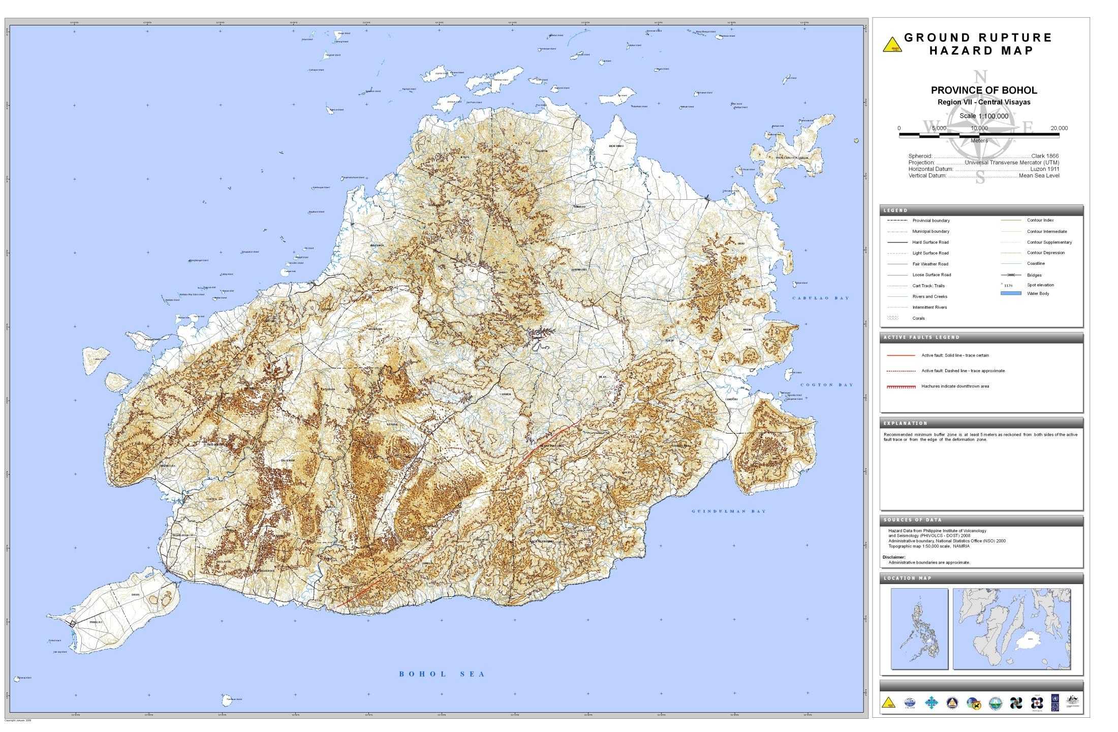 Bohol Ground Rupture Hazard Map