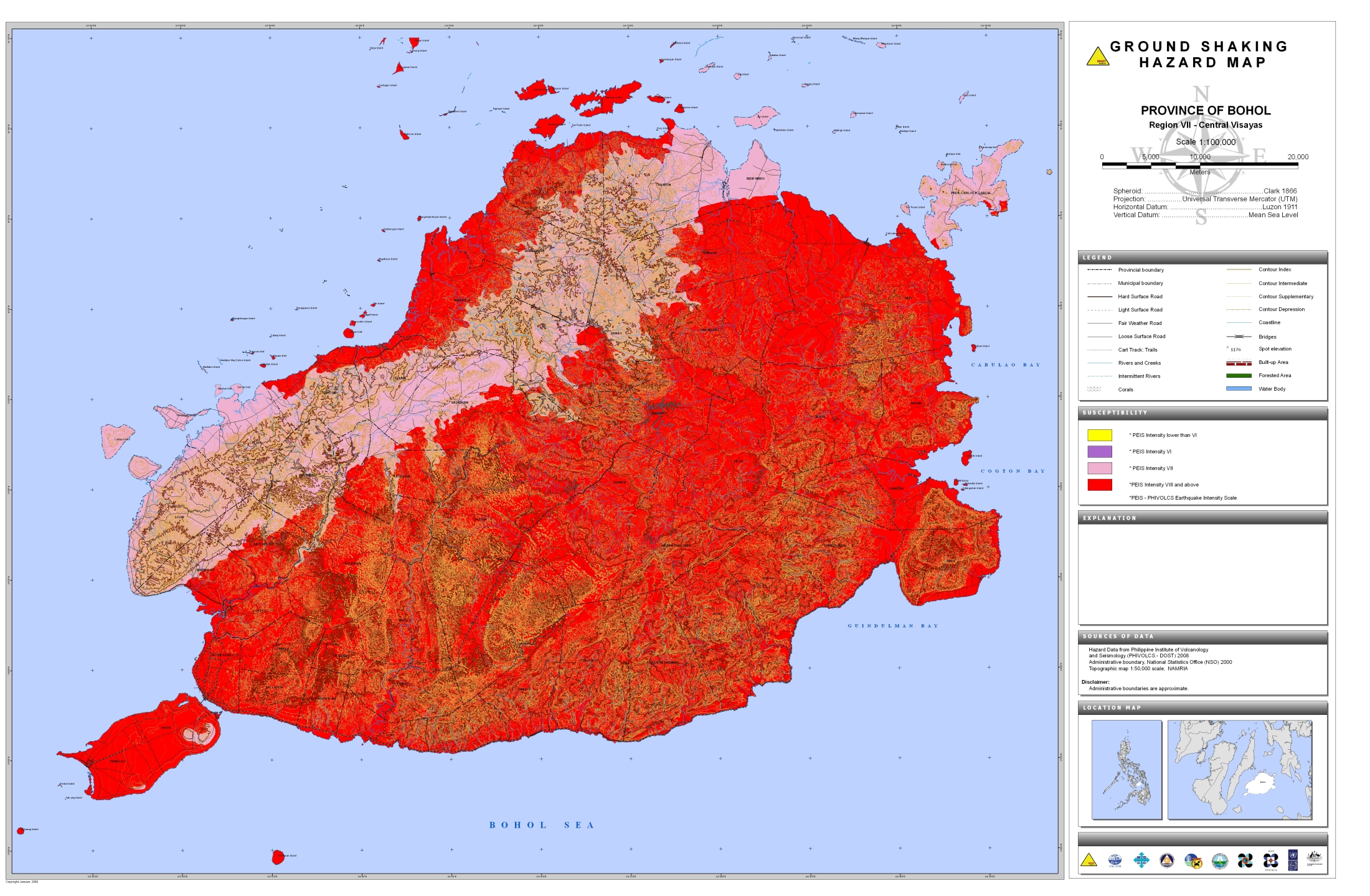 Ground Shaking Hazard Map
