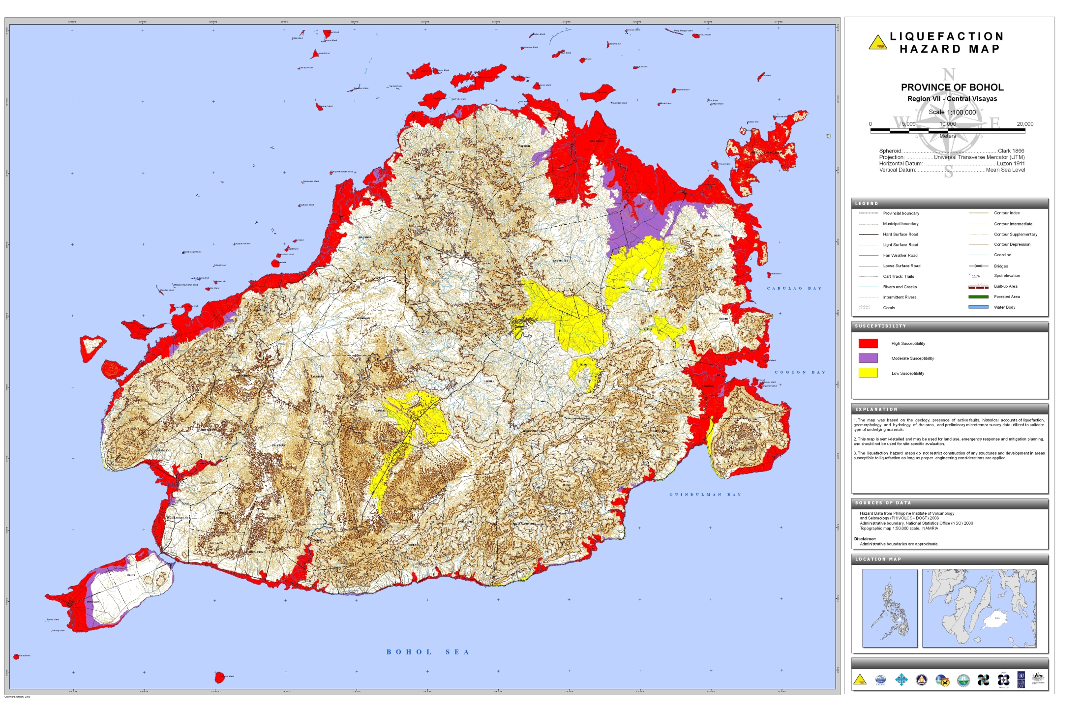 Bohol Liquefaction Hazard Map