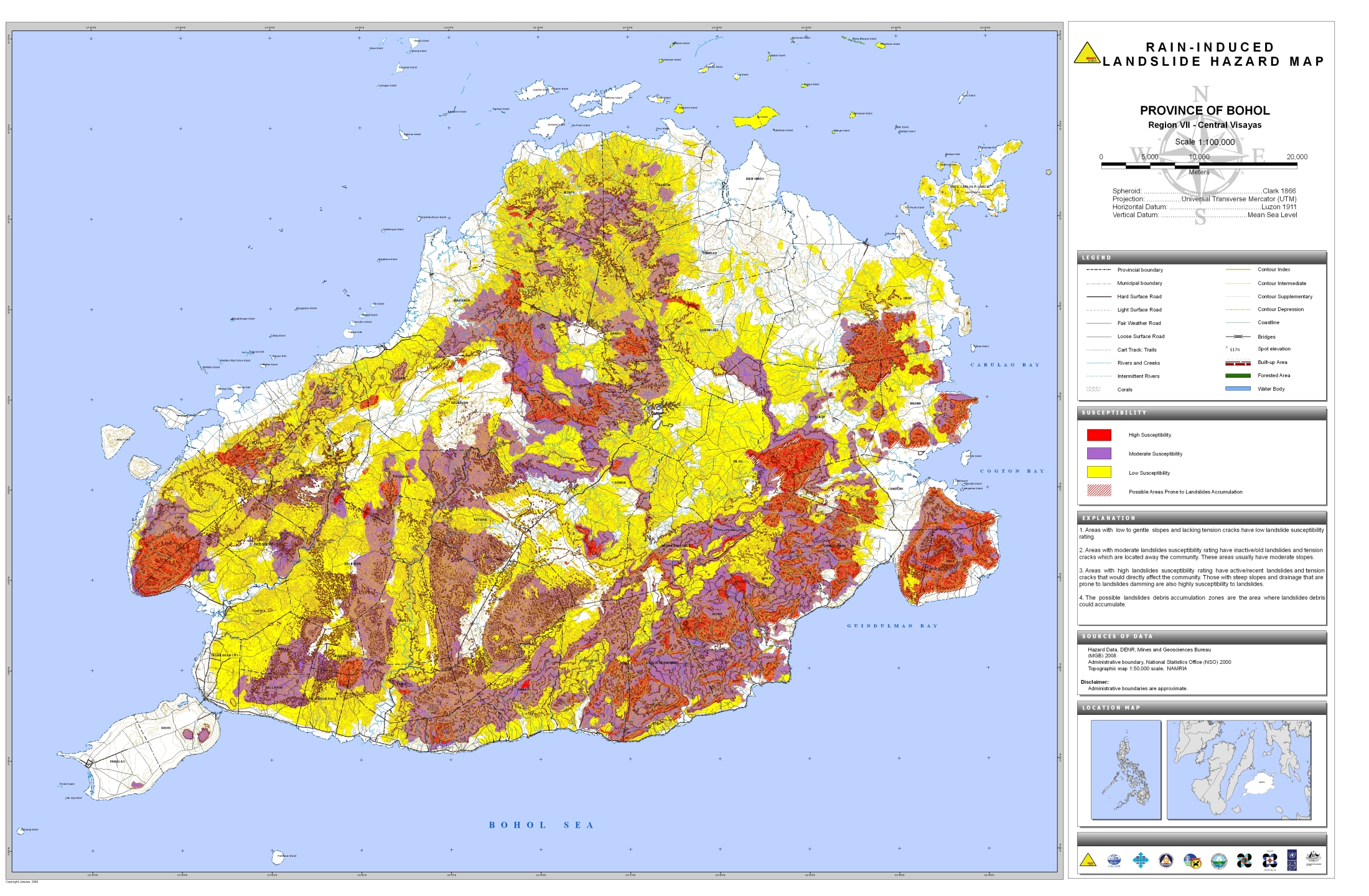 Bohol Rain-Induced Landslide Hazard Map