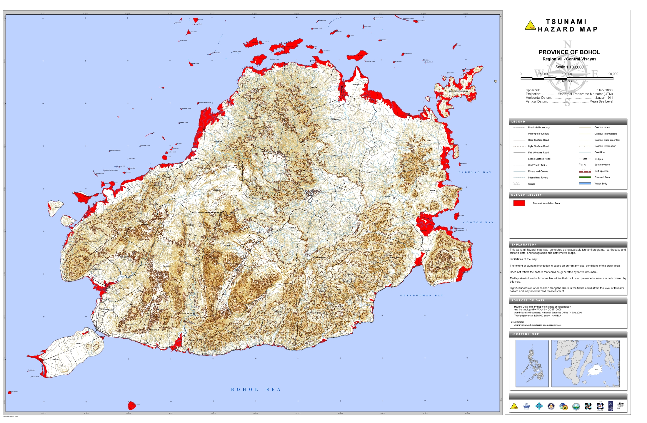 Bohol Tsunami Hazard Map