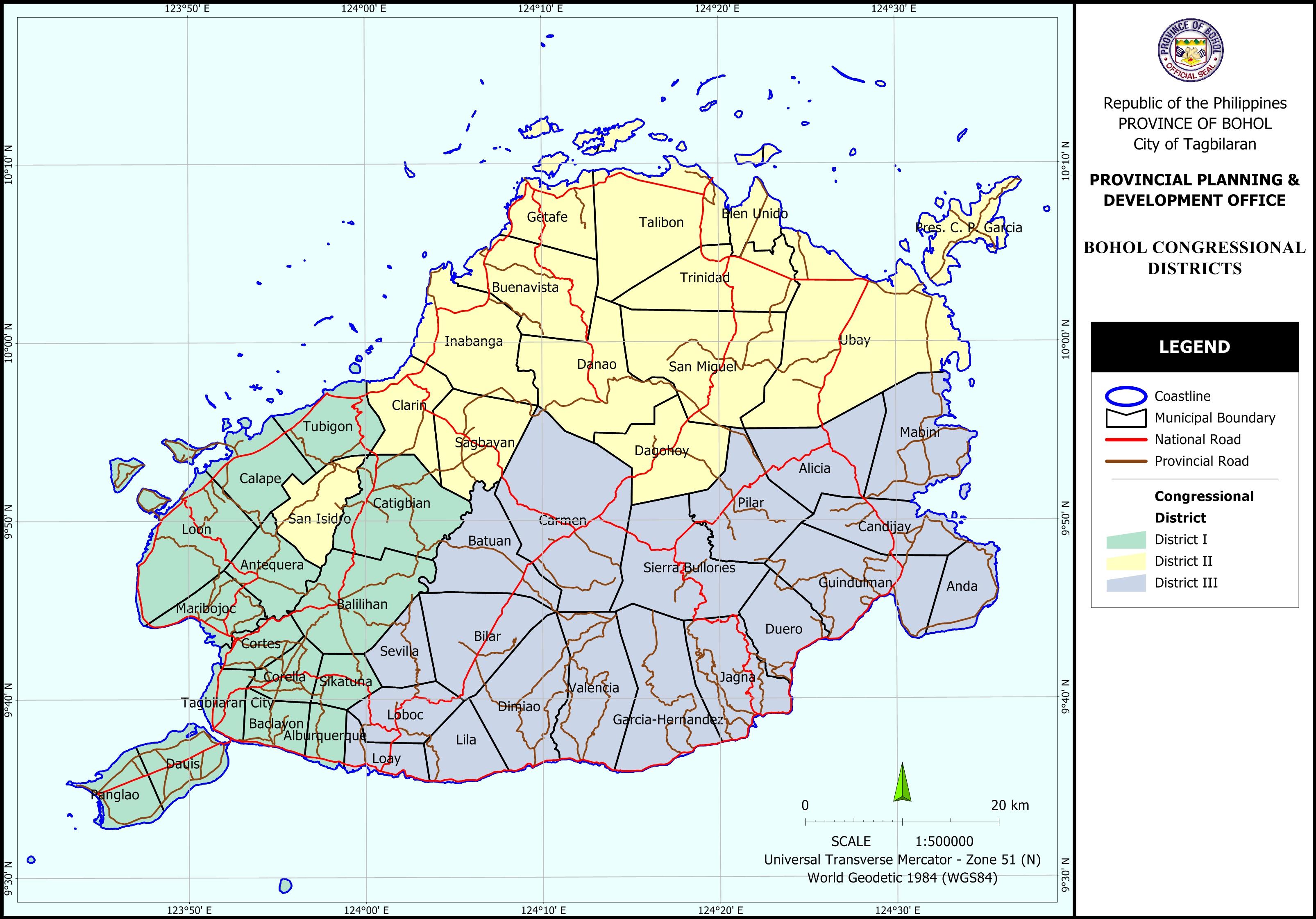 Bohol Districts