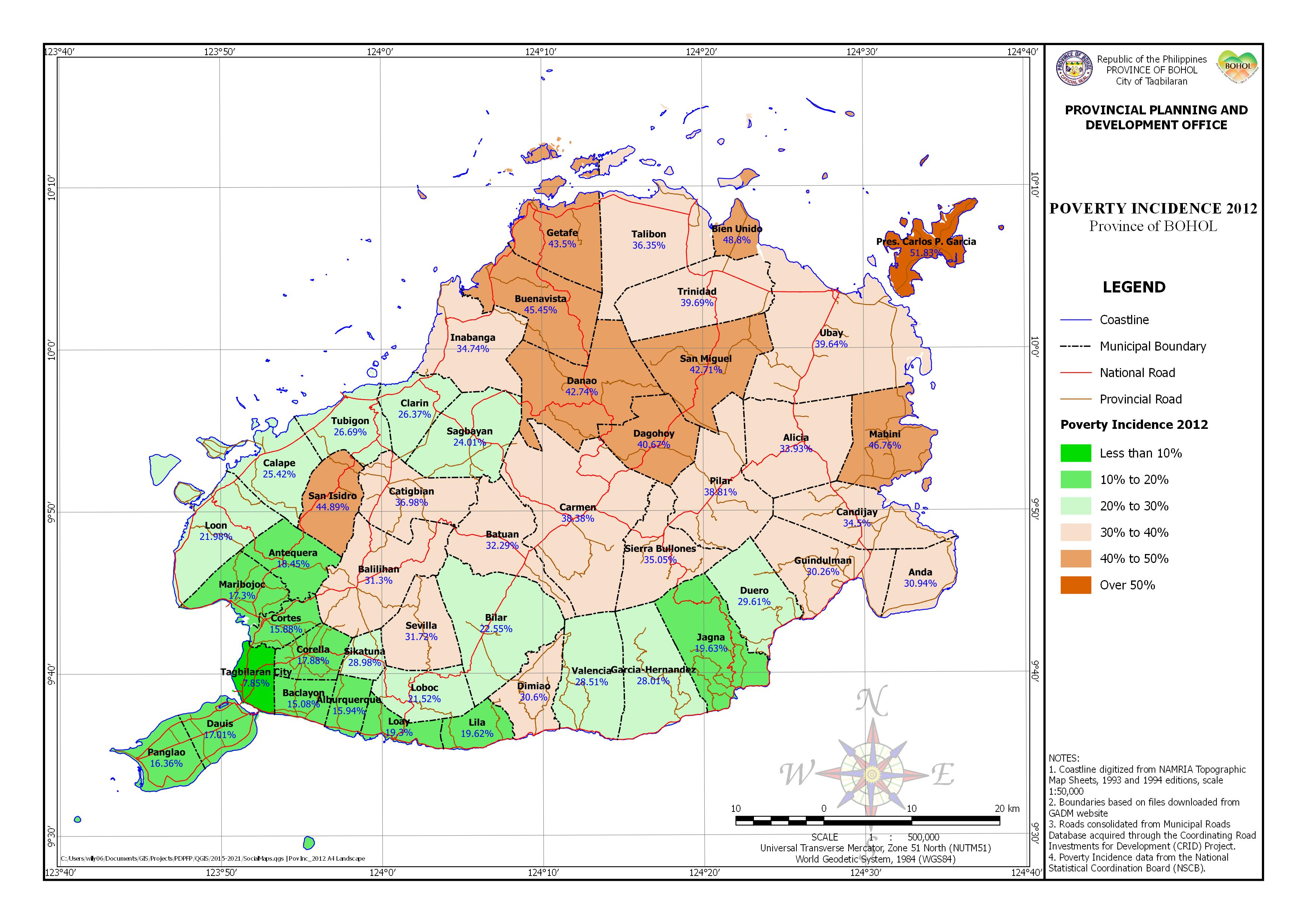 Poverty Incidence Map - 2012